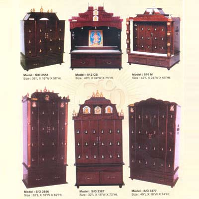 Awesome Divine Home Modular Pooja Room Cabinet   II